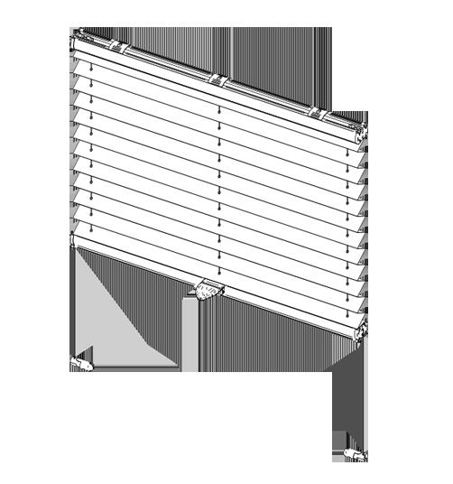 bedienstab plissee good mm ud cm ud m with bedienstab. Black Bedroom Furniture Sets. Home Design Ideas